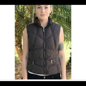 Add down vest gillet brown us6 6 zip up warm comfy